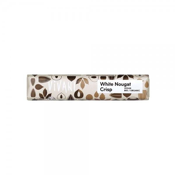 White Nougat Crisp - veganer Schokoriegel Vivani