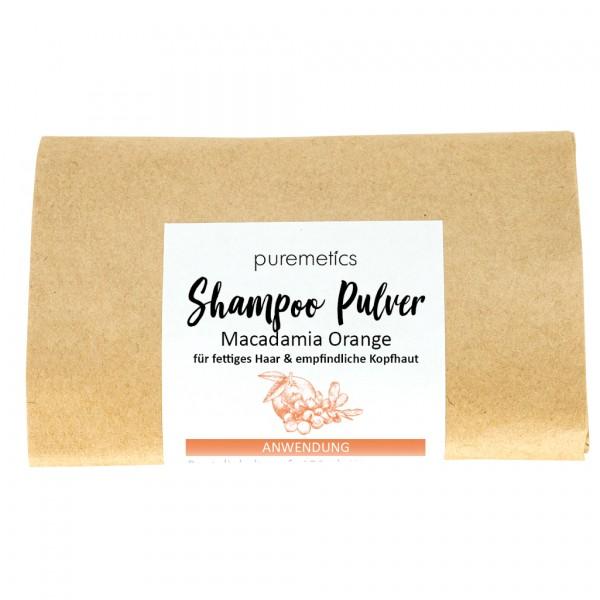 Shampoo-Pulver Macadamia Orange - für schnell fettendes Haar