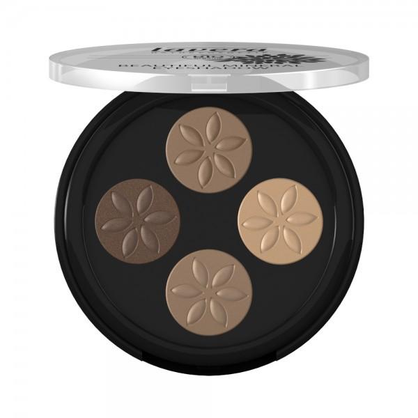 Beautiful Mineral Eyeshadow Quattro -Cappuccino Cream 02-Lavera