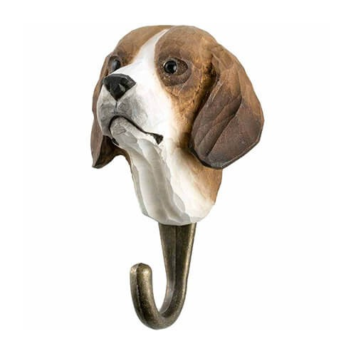 Handgeschnitzter Haken - Hund