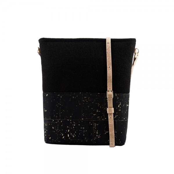 UlStO Handtasche Pectina - schwarz-gold