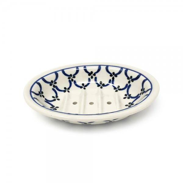 Seifenschale Keramik - helles Muster