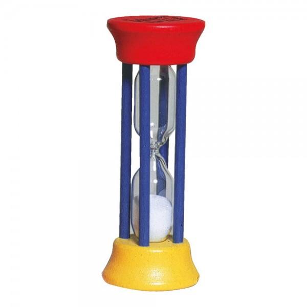 Zahnputzuhr rot-gelb-blau