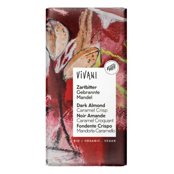 Zartbitter gebrannte Mandel - vegane Schokolade Vivani