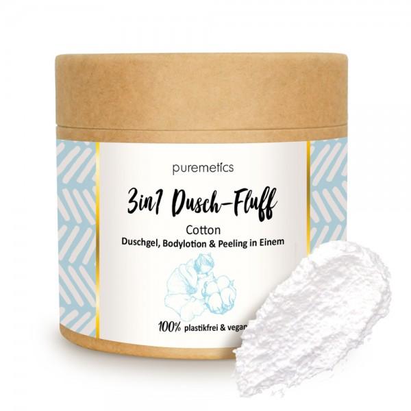 3in1 Dusch-Fluff Cotton mit Zuckerpeeling